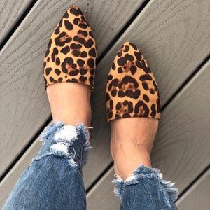 Shoes - NEW SAVANNAH Leopard Print Mules